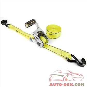REESE Carry Power Super Duty Titan Max Grip Ratchet Tie Down, 1-1/2in x 15, Yellow - part #9429700