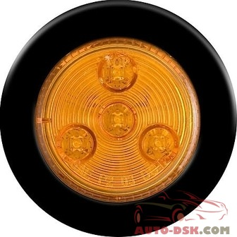 Optronics Waterproof 2in Round Amber LED Marker/Clearance Light Kit - part #MC-L55AK