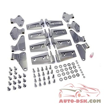 Rugged Ridge Door Hinge Kit, Stainless Steel, Jeep Wrangler (Jk) 4 Door 07-11, Includes 8 Hin - part #11111.21