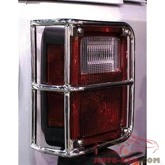 Rampage Tail Light Guards, Stainless, Pair - part #88460