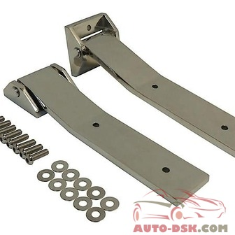 RT Offroad Stainless Tailgate Hinge Set, Upper & Lower - part #RT34082